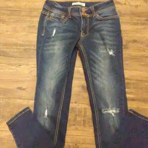 Encore denim distressed jeans